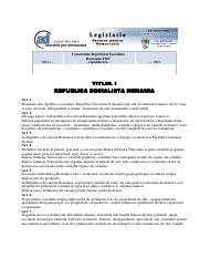Constitutia Romaniei Pdf