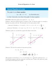 General Equation of a Line