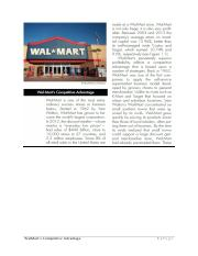 WalMarts Competitive Advantage