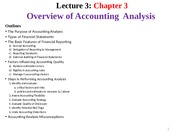 L3 - Overview of Accounting Analysis _Ch3_ 2015s2 - Students-3