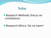 Week 3 Lecture Slides - Research Methods