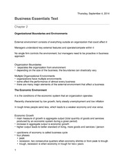 Business Essentials Chapter 2 Notes