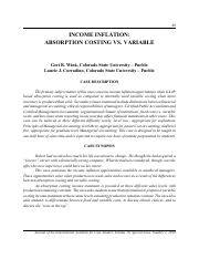absorption vs variable costing