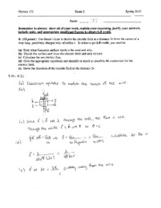 Exam 2 - Gauss's Law and Electric Potential