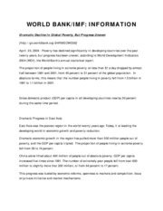 WORLD BANK info