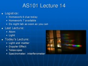 AS101 Lecture 14