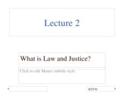 What is Law and Justice