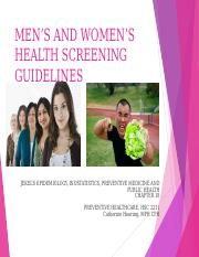Women and Mens Health Guidelines Online
