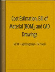 Costing BOM Assembly Drawing