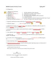 Worksheet BIO304 S17 L14 Epigenetics with Answers-2
