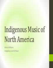 Indigenous Music of North America