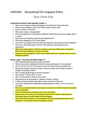 Exam 2 Study Guide Useche