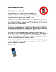 mobile phones be banned