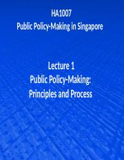 Lecture 1  Public policy-making - Principles and Process.pptx