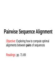 4-Pairwise sequence alignment
