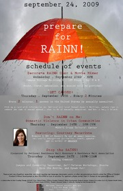 2009 RAINN DAY FLYER