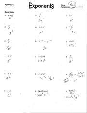 Printables Exponents Worksheets With Answers properties of rational exponents homework answer key propm 4 pages 5 1 worksheet key
