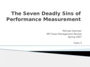 Class 3 - The Seven Deadly Sins of Performance Measurement