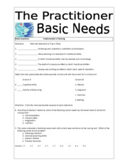 Basic Client Needs Study Questions