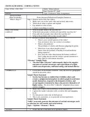 Evaluation Video and Thesis Statement Cornell Notes.docx