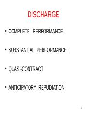 Discharge & Damages
