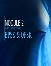 MODULE 2-DIGITAL MODULATION