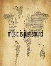music is just sound