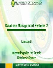 ITESPEC1 Module 5 - Interacting with Oracle Server.pdf