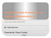 Formal Concept Analysis on its way from Mathematics