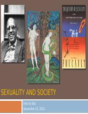 Sexuality and Society(1)