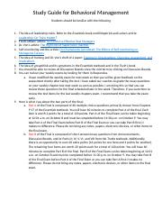 Study Guide for Behavioral Management (1).docx