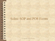 Solns SOP And POS Forms