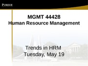 Class 2 Trends in HRM