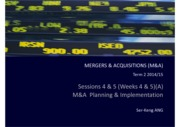 M&A Sessions 4 & 5 M&A Planning & Implemenation (A)