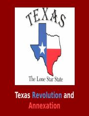 Texas Revolution and Annexation