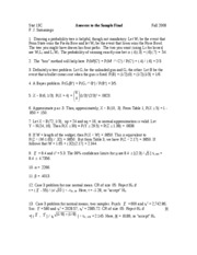 Stat 13C - Answers to the Sample Final - F08