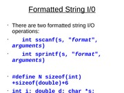 Formatted String I