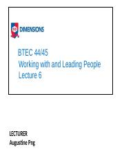 BTEC 44_45 WWLP lecture 6 Leadership n Mgt slides.pptx