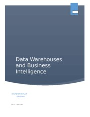 Data Warehouses and Business Intelligance
