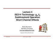 Lecture 04-Subthreshold and Short Channel Effects