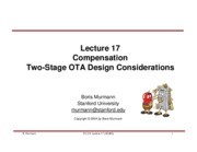 Lecture 17-Compensation and Two Stage OTA