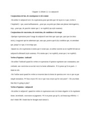 French Notes for Le subjonctif