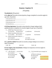 Practice Exam With Answers (Ch.10)