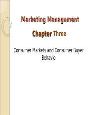 Marketing Management ch3