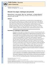 Biofuels from algae challenges and potential(1) (1)sda.pdf