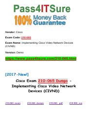 New Pass4itsure Cisco-210-065 Dumps PDF.pdf