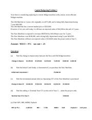 FIN 3020 - Capital Budgeting Problems 3 - In Class EXAMPLE.doc