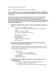 Family and Gender in Japan-Exam 1 Study Guide.doc