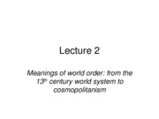 Lecture 2_Meanings of World Order