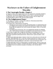 MacIntyre on the Failure of Enlightenment Morality